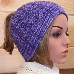 Photo of Messy Bun Hat-violet shades