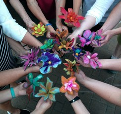 Photo of Wet Felted Flowers Workshop, SOLD OUT!