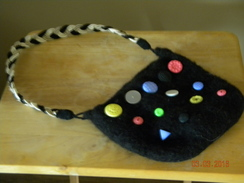 Photo of Felted Handbag with Buttons