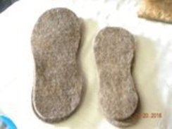 Photo of Alpaca Felt Boot Liners