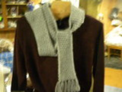 Photo of Alpaca Scarf-Silver Grey