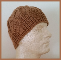 Photo of Mens Baby Alpaca Hat Med.Fawn Hand-Knit