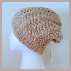 Photo of Alpaca Slouch Hat Lt. Fawn Hand Knit