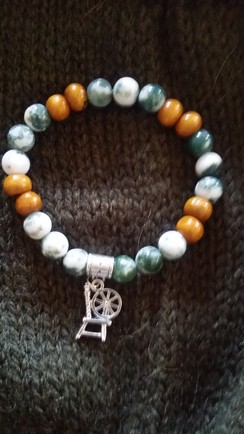 Photo of Spinning Wheel Gemstone Bracelet