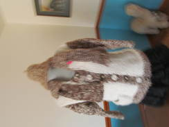 Photo of Coat & Hat Reversable Alpaca Knitted