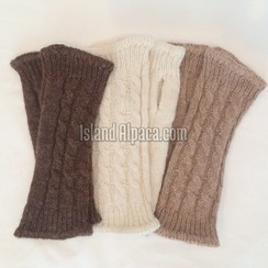 Photo of Alpaca Cable Wrist Warmers