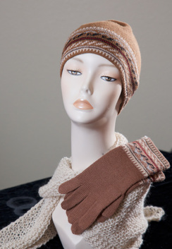 Photo of Matching Alpaca Knitted Hat and Gloves
