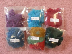 Photo of Raw Fiber: 7 Colors for Needle Felting