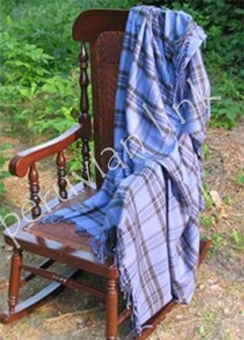 Photo of Periwinkle Pin Striped Throw