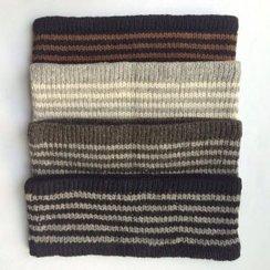 Photo of 100% Alpaca Striped Headband - Naturals