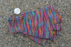 Photo of Ladies Rainbow Fingerless Alpaca Gloves