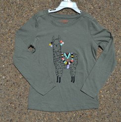 Photo of Olive Alpaca Long Sleeve Top (Size 6)