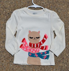 Photo of White Alpaca Long Sleeved Shirt (2T)
