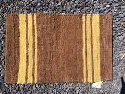 """Photo of Alpaca 16"""" x 24"""" Handwoven Brown Rug"""