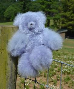 Photo of Lavender Suri Alpaca Teddy Bear