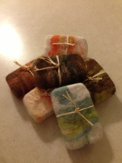 Photo of Hand made alpaca felted soaps