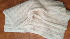 Photo of Big Alpaca Cable Knit Blanket