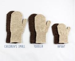 Photo of Kid's alpaca mittens