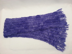 Photo of Scarf:  Handmade Ridged, French Lavender