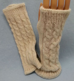 Photo of Mitts - Wrist Warmers Cable or Pointelle