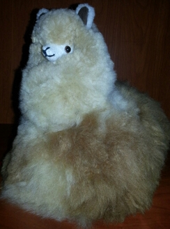 Photo of Alpaca Stuffed Animal in Seated Position
