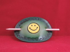 Photo of HS14 - Hair Stick - Smiley Face - Green
