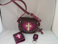 Photo of P10 - Purse with ID Wallet Pink/Purple