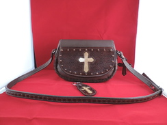 Photo of P18 - Purse - Cross with Cowhide Insert