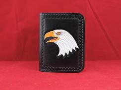 Photo of WI01 - Wallet - ID - Eagle Head - Black