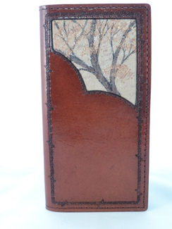 Photo of WR20 - Wallet - Roper - Branches -Brown