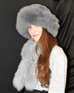 Photo of Fur Hat and Scarf Set