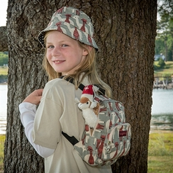 Photo of KH536 Alpaca Print Hat and Book Bag