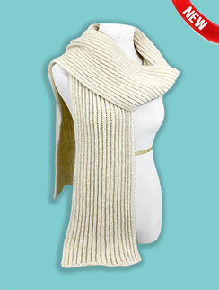 Photo of Scarf-Chunky Rib Knit