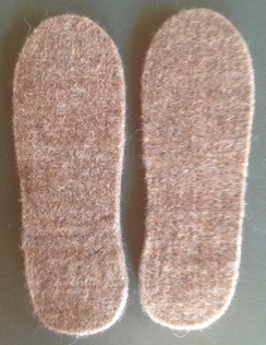 Photo of Alpaca Felted Shoe & Boot Inserts