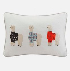 Photo of Whimsical Embroidered Cotton Pillow