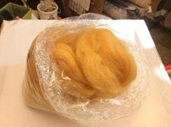 Photo of Alpaca Roving, Golden Apricot, Pulled