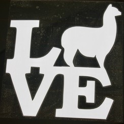 Photo of Alpaca Love Vinyl Sticker