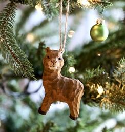 Photo of Wood Craft Alpaca Ornaments