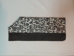 Photo of Gray Leopard Print on Dark Gray -Newborn