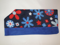 Photo of Navy Blue Floral on Blue - Medium