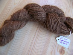 Photo of Hand spun dark fawn yarn