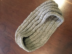 Photo of Handmade: Alpaca Grey Cowl