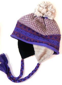 Photo of Lilac Alpaca Chullo Hat