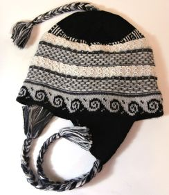 Photo of Lined Lace Alpaca Chullo Hat