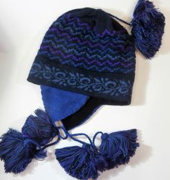 Photo of Ocean Wave Alpaca Lined Chullo Hat