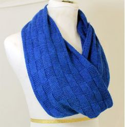 Photo of Scarf: Basketweave Infinity Scarf