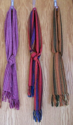 Photo of Colorful woven scarves