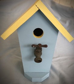 Photo of Birdhouse - Blue and Sunny Yellow