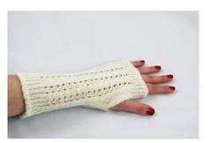 Photo of Alpaca Wrist Warmer Pointelle Style