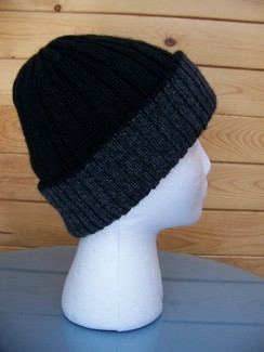 Photo of Double-knit reversible alpaca hat